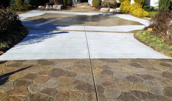 easy to clean concrete driveway