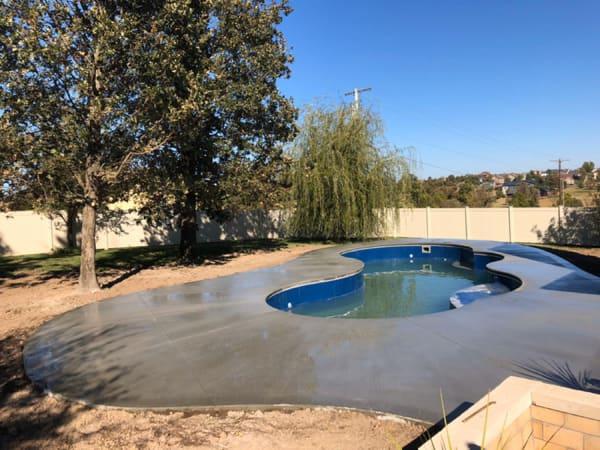 pour concrete pool deck denver