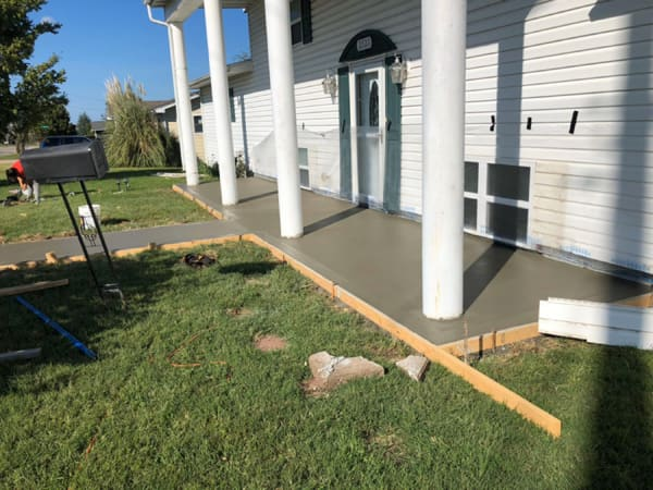 concrete porch contractor in Denver CO