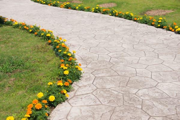 decorative concrete for walkway