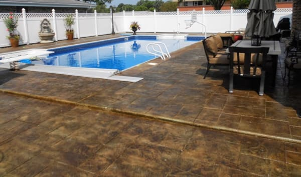 easy to maintain stamped concrete